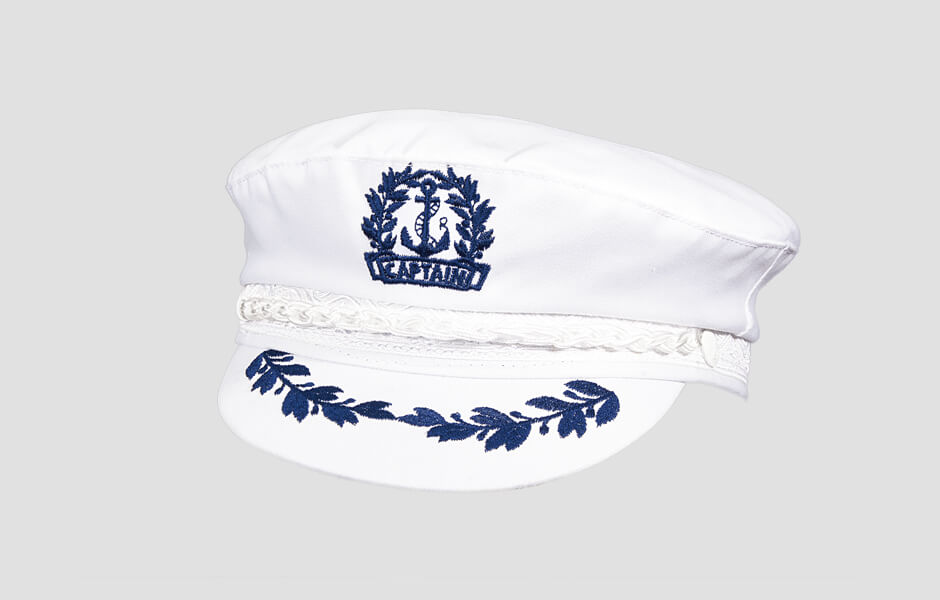 White Captain's Cap, AEG112-WHT