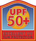 UPF 50+ Excellent UV Sun Protection tag